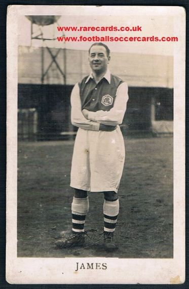 1935 Alec James Arsenal postcard L&J